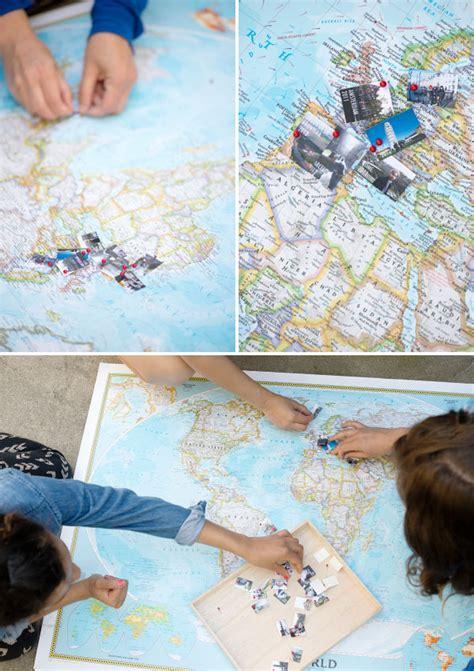 diy world travel map travel memory map diy
