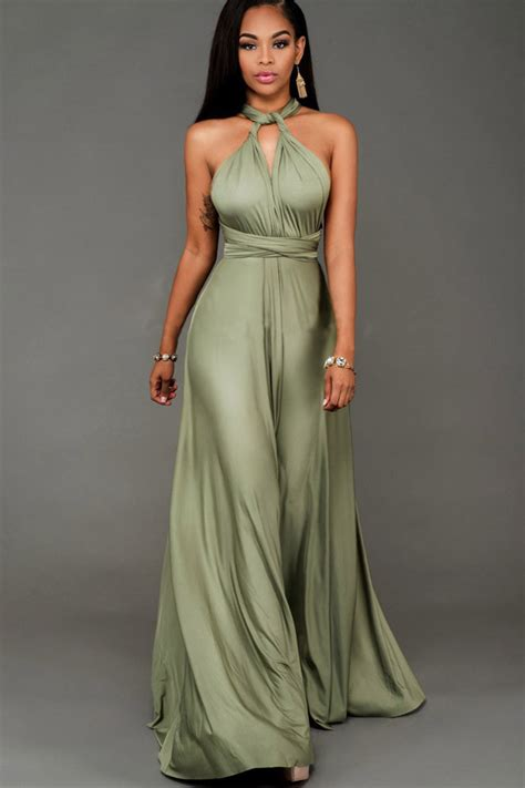 Dress Army Maxi army green sleeveless maxi dress