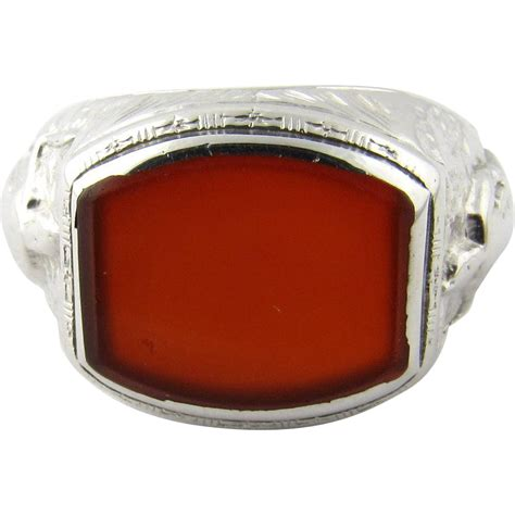 Carnelian Ring Monel Size Kantoran antique 14 karat white gold carnelian ring size 7 from ctgoldcustomers on ruby
