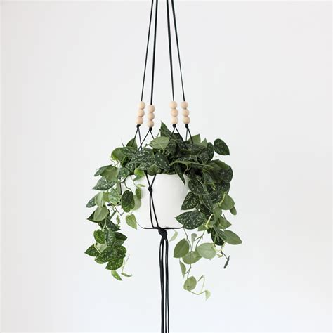 Hanging Macrame Planter - more colors large hanging planter without pot modern