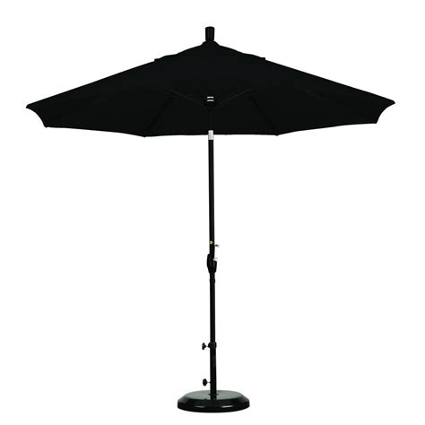 Black Patio Umbrella Hton Bay 9 Ft Aluminum Patio Umbrella In Black Cabana Stripe With Tilt 9900 01242711 The