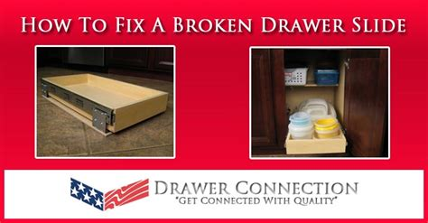 how to fix broken drawer slides chest of drawers