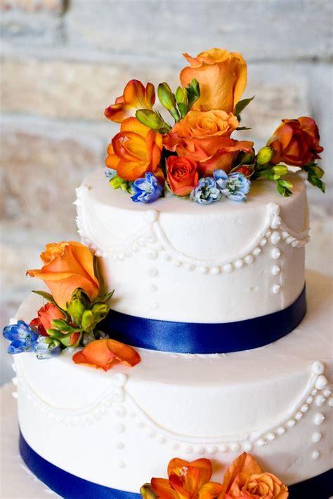 cobalt blue and orange wedding the merry