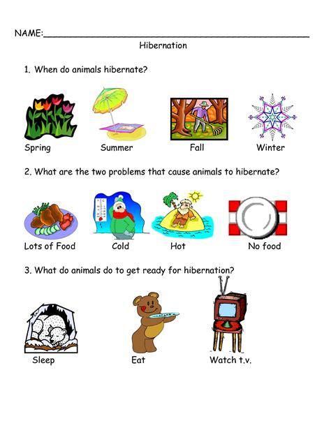 Hibernation Worksheets by Hibernation Worksheets Kindergarten 1000 Images