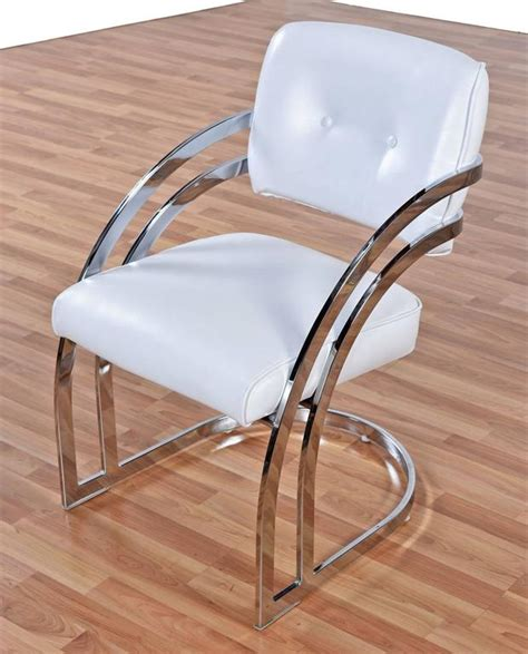 Post Modern Chrome Cantillevar Dining Room Chairs At 1stdibs Chrome Dining Room Chairs