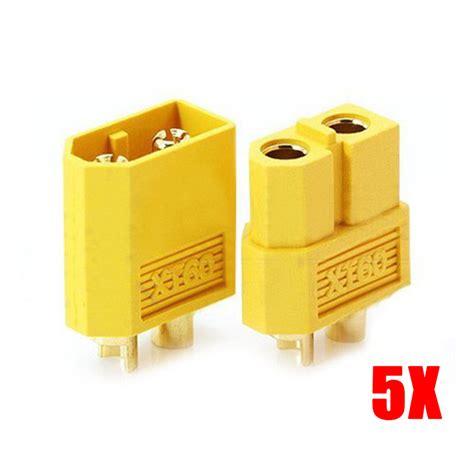 Xt60 Bullet Connectors Plugs Untuk Baterai Rc 5 pair high quality xt60 bullet connectors plugs for rc lipo battery ali88 in