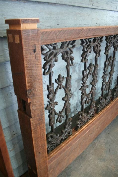 Wood And Iron Headboard This Makes Wood And Wrought Iron Beds Made From Reclaimed Pieces From The Quarter In