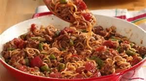 easy beef and noodle dinner recipe from pillsbury com