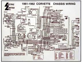 1961 1962 corvette diagram electrical wiring davies corvette parts accessories