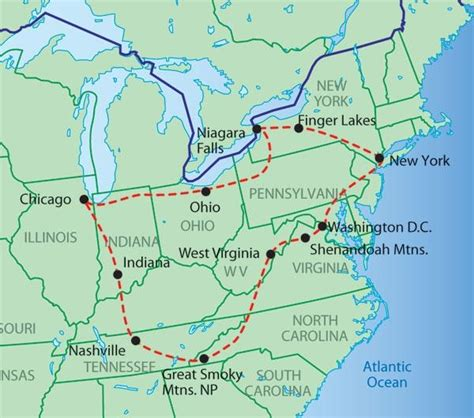 america map east trekamerica best of the east