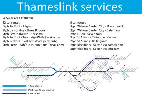 thameslink route thameslink 2018 services based on the jacobs