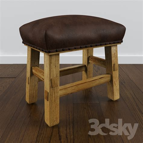 Pottery Barn Leather Stool by 3d Models Chair Pottery Barn Caden Leather Stool