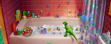 toy story bathtub party when the toys have a pool party in the bathtub and you