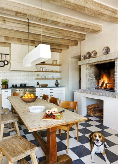 Kitchen With Fireplace Designs The Ultimate Cozy Kitchen Fireplaces Kitchen Inspiration The Kitchn