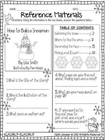reference materials worksheet freebie free printables