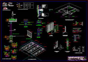 construction details in autocad drawing bibliocad