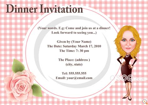 dinner invitation osoq gt caricatures gt invitation cards gt dinner