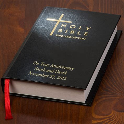 wedding bible personalized 1 year wedding anniversary gifts for your