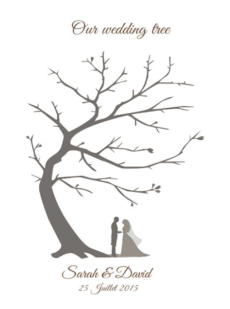 wedding tree guest book free template customized vintage wedding fingerprint tree guestbook