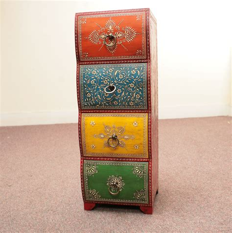hand painted indian cabinets hand painted unit jugs indian furniture and