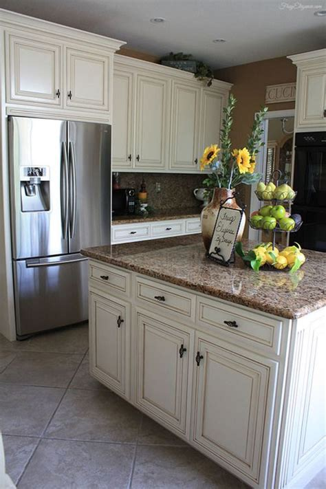 cream cabinets 25 best ideas about distressed kitchen on pinterest