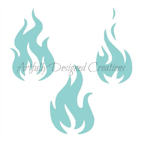 flames stencil artfully designed creations