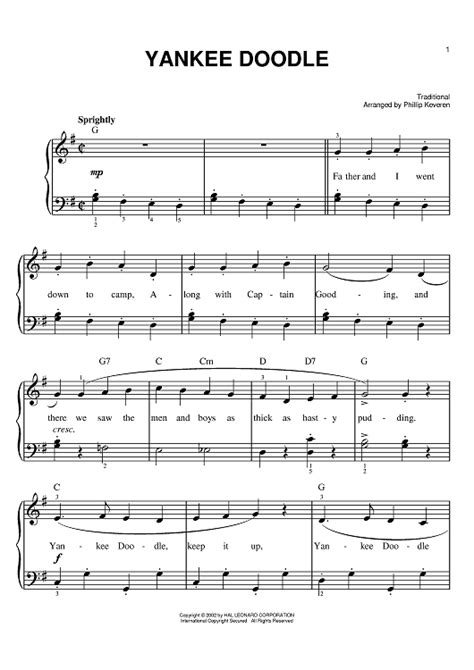 free yankee doodle sheet for clarinet yankee doodle sheet for piano and more
