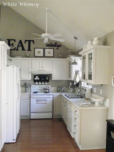 beautifullovelythings above kitchen cabinet decor beautiful small kitchen for the home pinterest