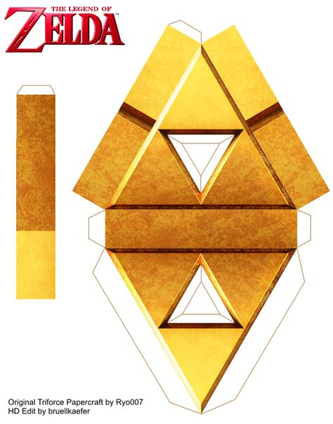 Triforce Papercraft - triforce papercraft by ryo007 updated be me by