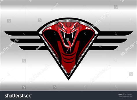 Mianan King Cobra Black Silver cobra on the black winged metallic shield on the