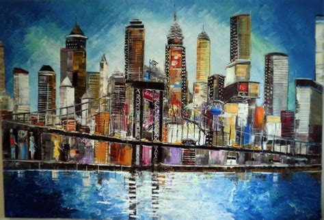 acrylic painting nyc i new york original painting acrylic on canvas new
