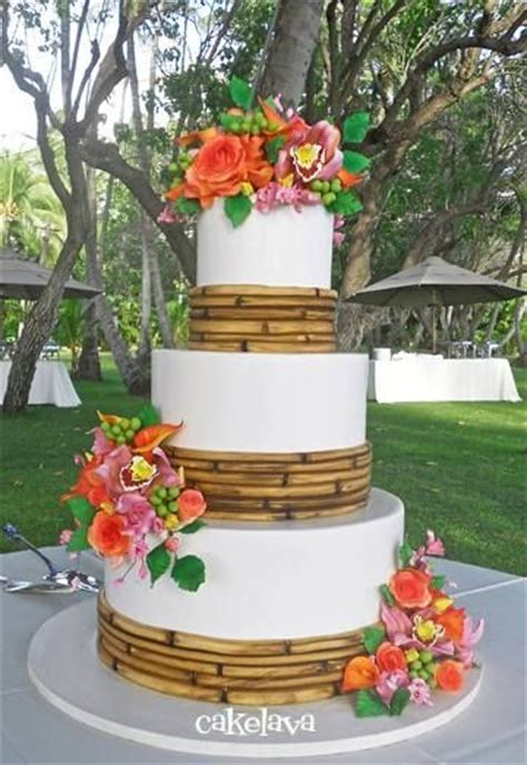 luau wedding cakes pictures 17 best images about cakes i on cake central gold cake and wafer paper flowers