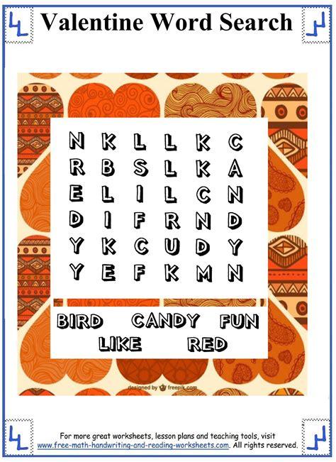 printable valentine word search 1st grade valentine word search printable puzzles small word