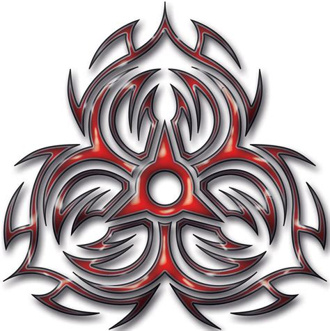 biohazard tribal tattoo tribal hazard by blakewise on deviantart
