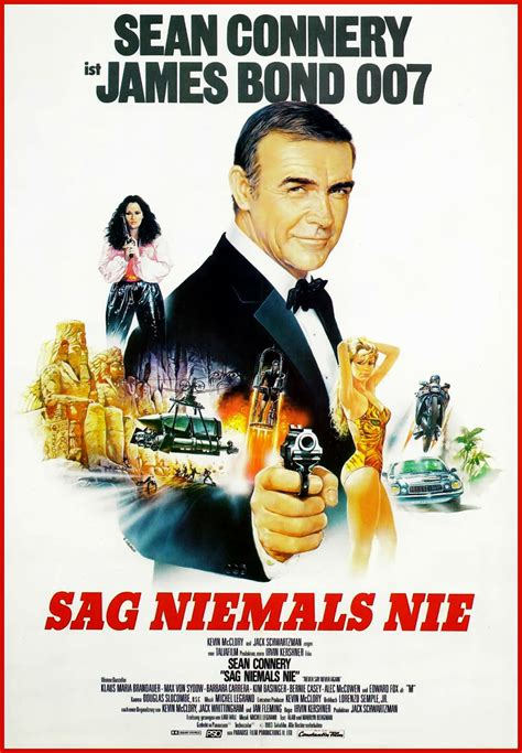 timothy dalton never say never again never say never again german james bond 007 poster sean