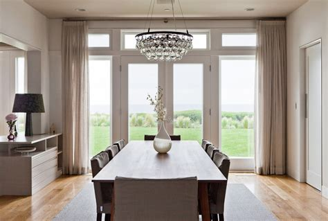 Popular Dining Room Curtains Ideal Height For Dining Room Light With 8 Chairs And