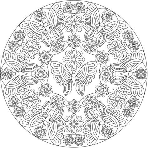 coloring books for grown ups butterflies mandala coloring book welcome to dover publications