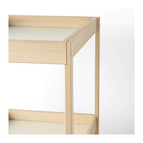 Sniglar Changing Table Sniglar Changing Table Beech White 72x53 Cm Ikea