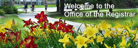 welcome to the office of the registrar the office of the