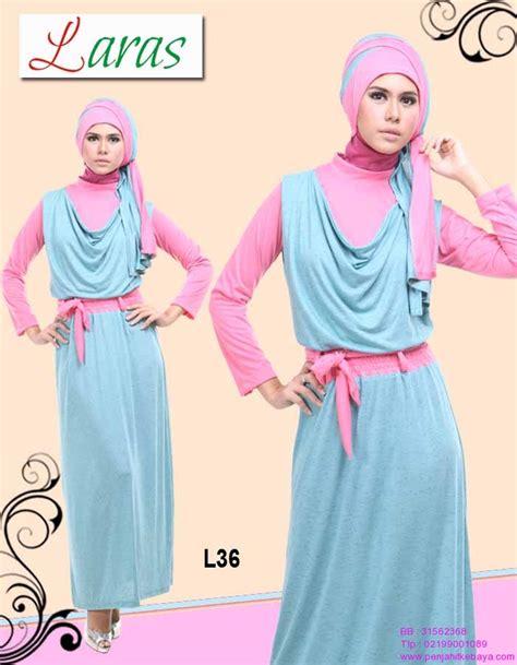 Gamis Blezira Biru Turquis 10 gamis pink biru l36 penjahit kebaya 085890548801