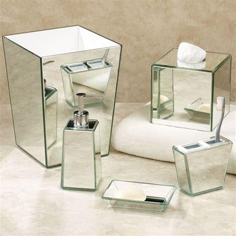 Mirrored Bathroom Accessories Mirror Bath Accessories