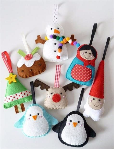 cute homemade felt christmas ornament crafts  trim