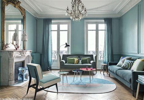 Idee Deco Salon Bleu bleu turquoise et pastel le duo gagnant de cet appart