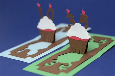 Cupcake Pop Up Card Template by Birthday Pop Up Card Detailed Cupcake Creative Pop Up Cards