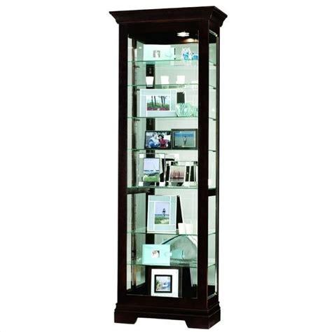 Curio Shelf by Howard Miller Saloman Eight Shelf Display Curio Cabinet