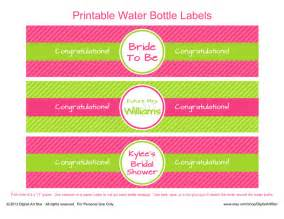 free printable water bottle labels template free printable water bottle labels template