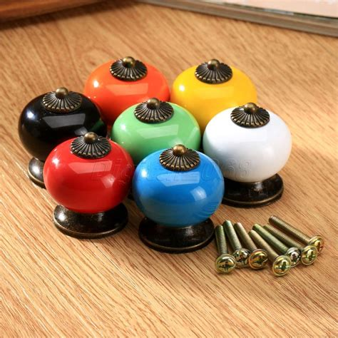 sale colorful vintage ceramic door pull knobs cabinet