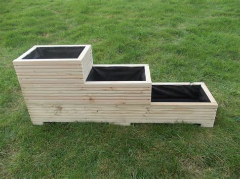 Large Wooden Flower Boxes Large Wooden Planter Window Box Flower Planter Herb