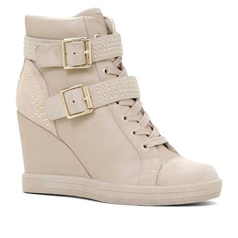 sneaker wedges aldo verratti wedge sneaker in beige bone lyst