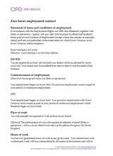 types  contract cipd hr inform